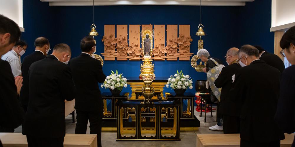 6月22日 新御堂 遷仏式